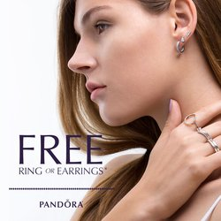 FREE PANDORA RING or EARRINGS!