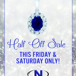 HALF OFF SALE! The BIGGEST SALE OF THE YEAR!