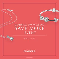 SAVE on Pandora! Memorial Day Weekend Only!