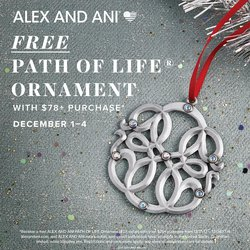 FREE Alex and Ani Path Of Life Ornament! Dec 1 - Dec 4 Only!