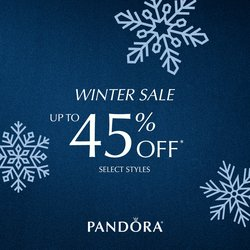 Up to 45% OFF PANDORA during the WINTER SALE! Dec 26-31 Only!