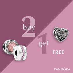 Buy 2 Pandora Charms, Get 1 Free! 9/20-9/24 only!