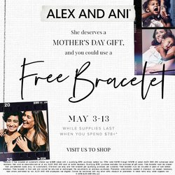 FREE ALEX AND ANI BANGLE with any $78 A&A purchase! May 3-May 13th Only!