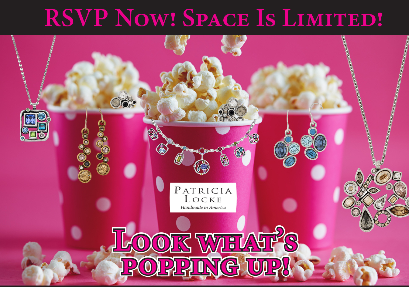 RSVP NOW for the Patricia Locke Pop Up Show!!