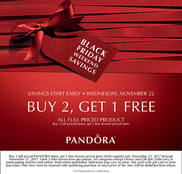 pandora black friday deal