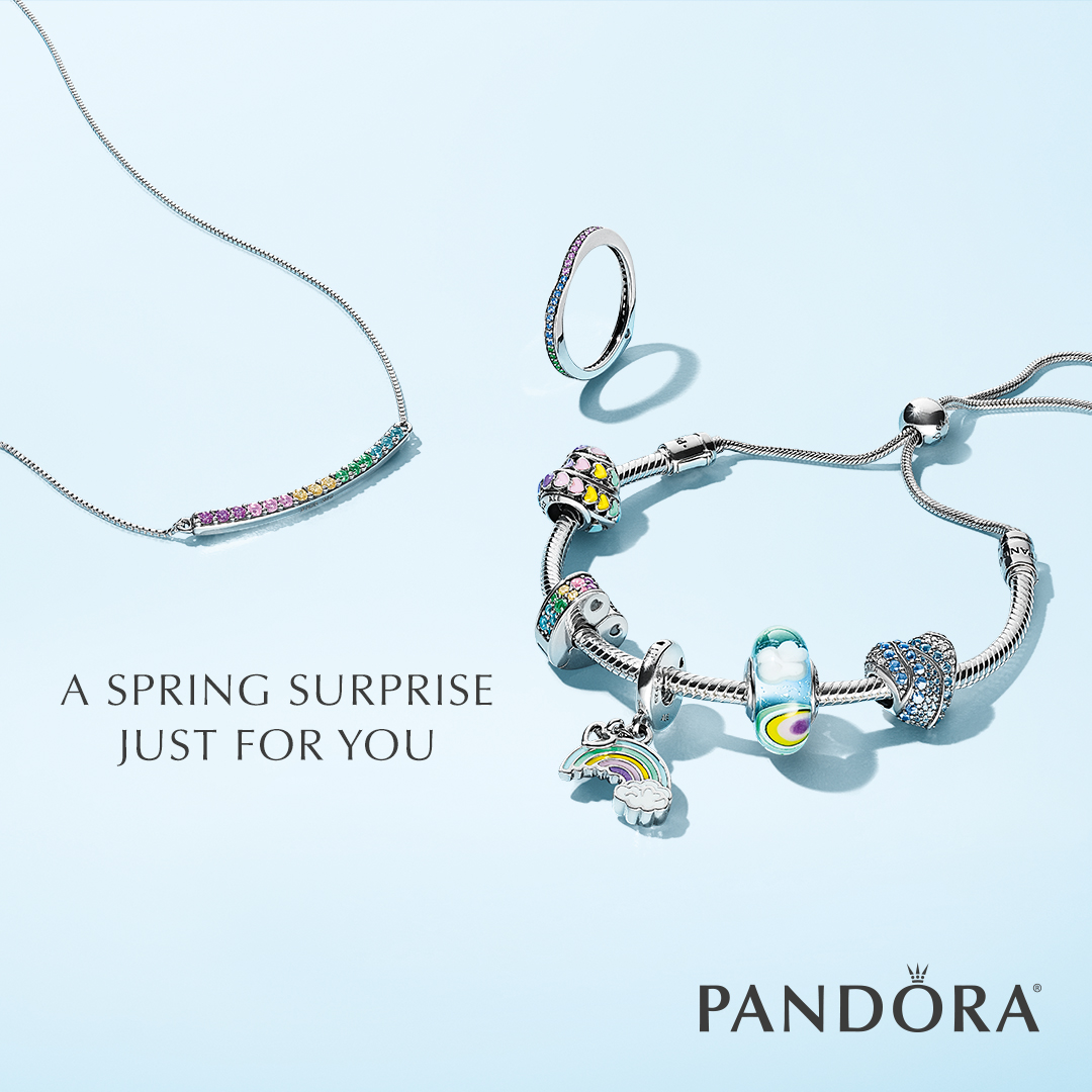 97174260c Valid only 3/15/18-3/21/18. Qualifying $100 PANDORA Jewelry spend excludes  taxes, and fees, and must consist of purchases only on the New 2018 Spring  ...